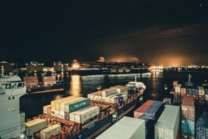 Shipping Containers and Freight Ship